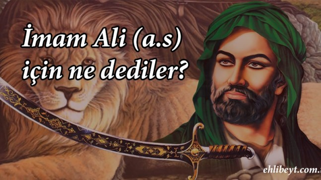 İmam Ali İçin Ne Dediler?